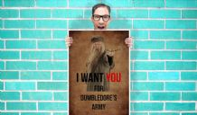 I want you For Dumbledores Army Harry potter Art - Wall Art Print Poster   - Geekery Art Geekery
